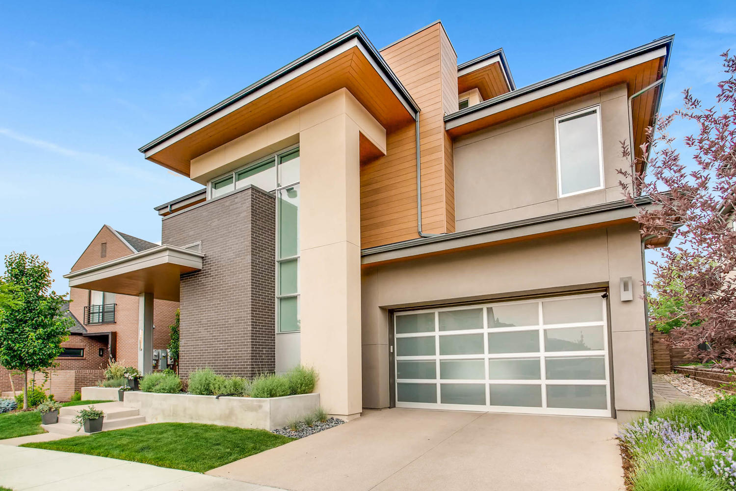 Modern Denver Infill Custom Home with Brick Details in Lowry