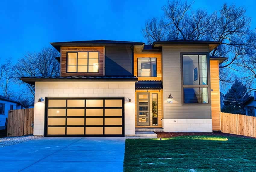 Modern Denver Custom Home With Wood Accent Details