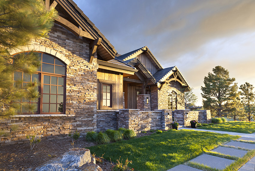 Colorado mountain modern custom home in Castle Pines Colorado