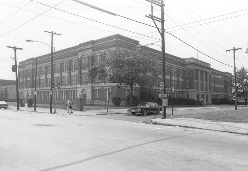 Old photograph of school built in the Beaux Arts architectural style