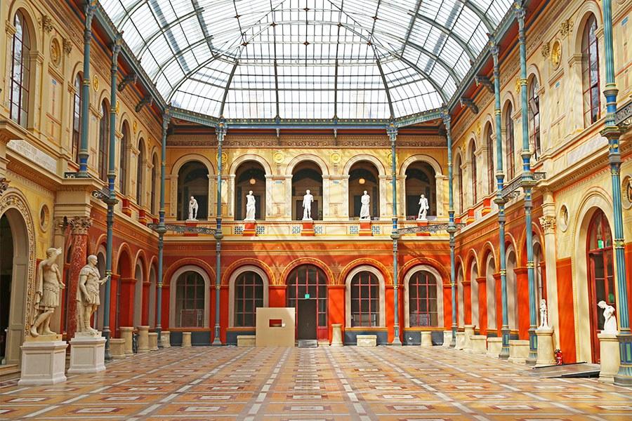 Grand entry of the Ecole de Beaux Arts in Paris, France.