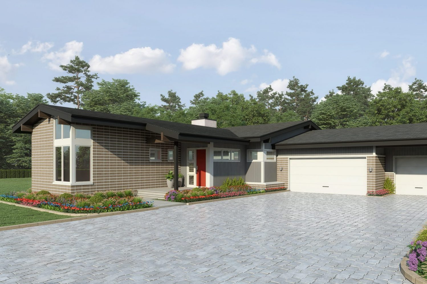 Mid Century Modern Ranch Style Home designed by Award Winning Residential Architecture Firm, Godden Sudik Architects