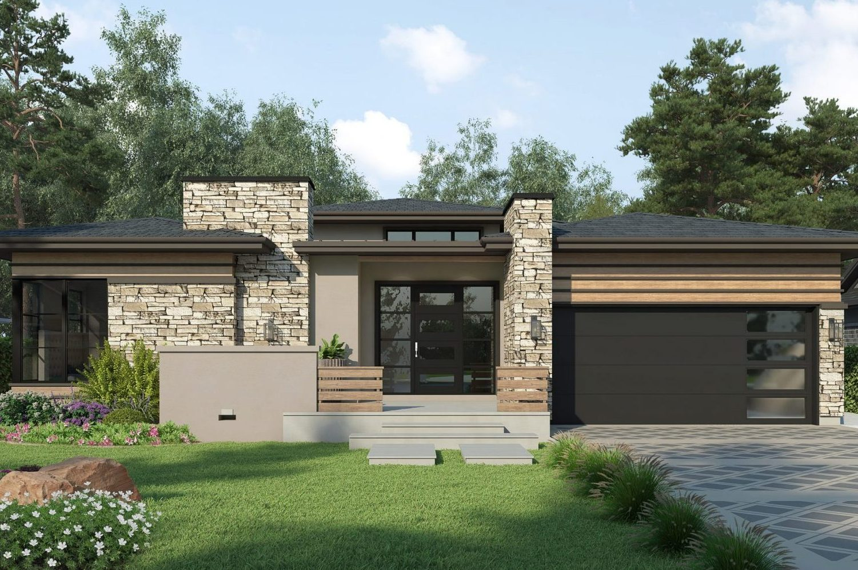 Denver infill modern prairie residence designed by residential architecture firm, Godden Sudik Architects