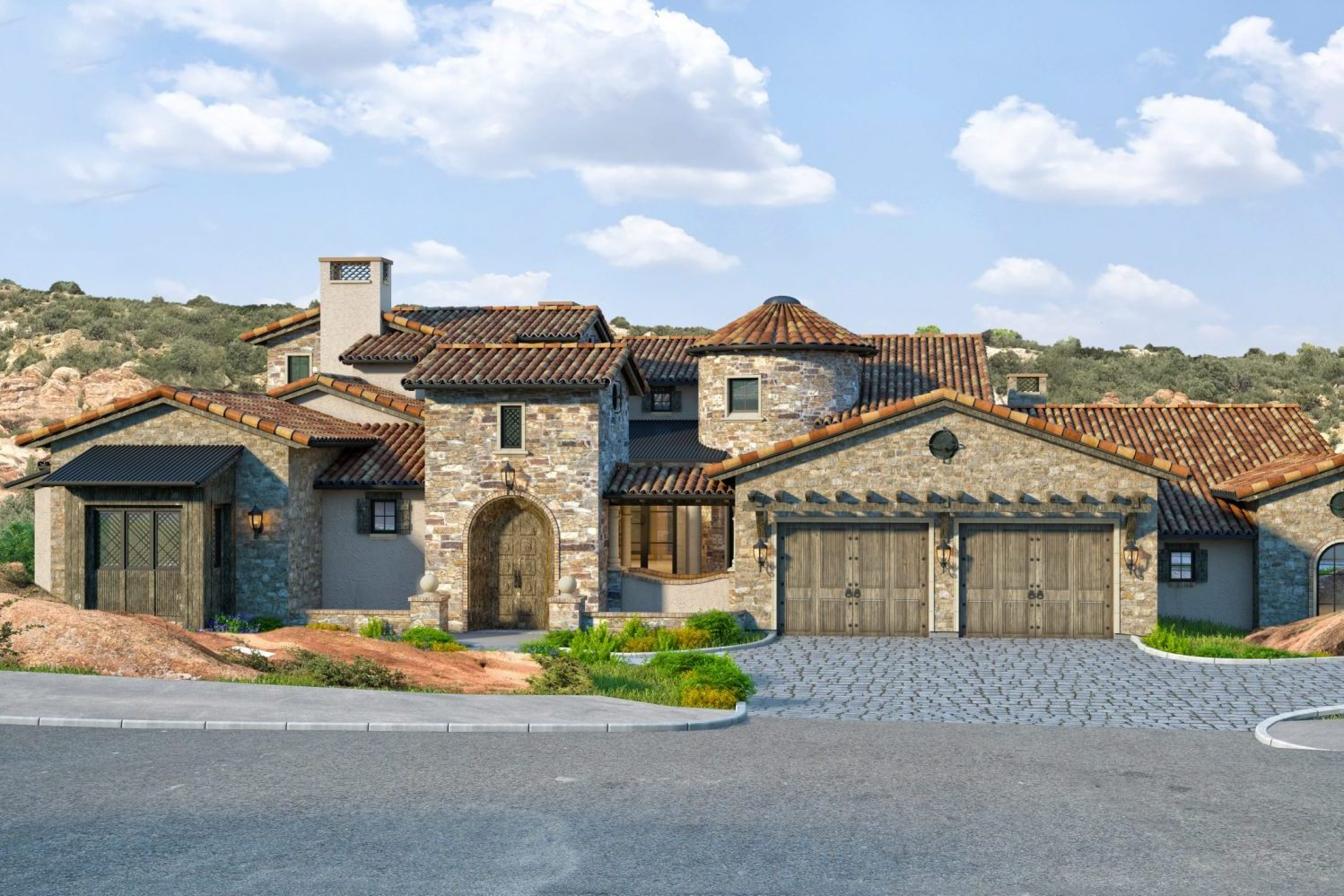 Custom, Tuscan style residential home designed by award-winning firm, Godden Sudik Architects