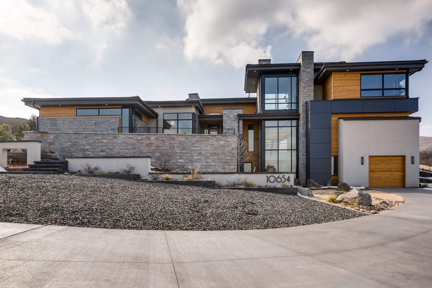 Ultra modern home in Colorado with stone accents designed by Godden Sudik Architects