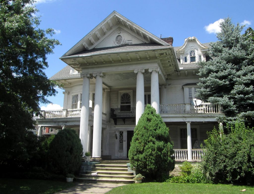 A Historic example of a colonial revival style home