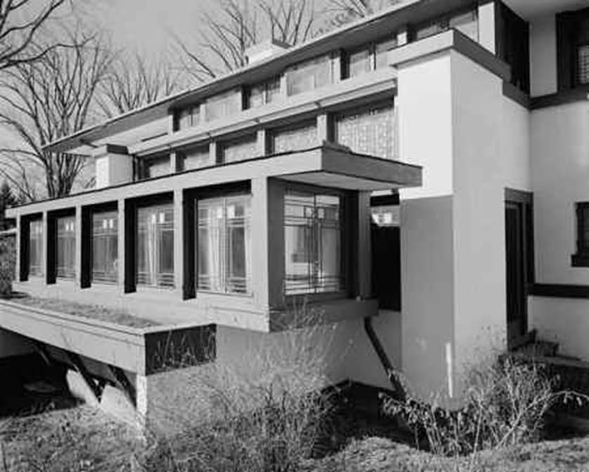 black and white photo of prairie style