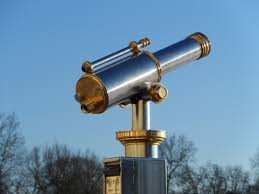 Telescope pointing to the sky