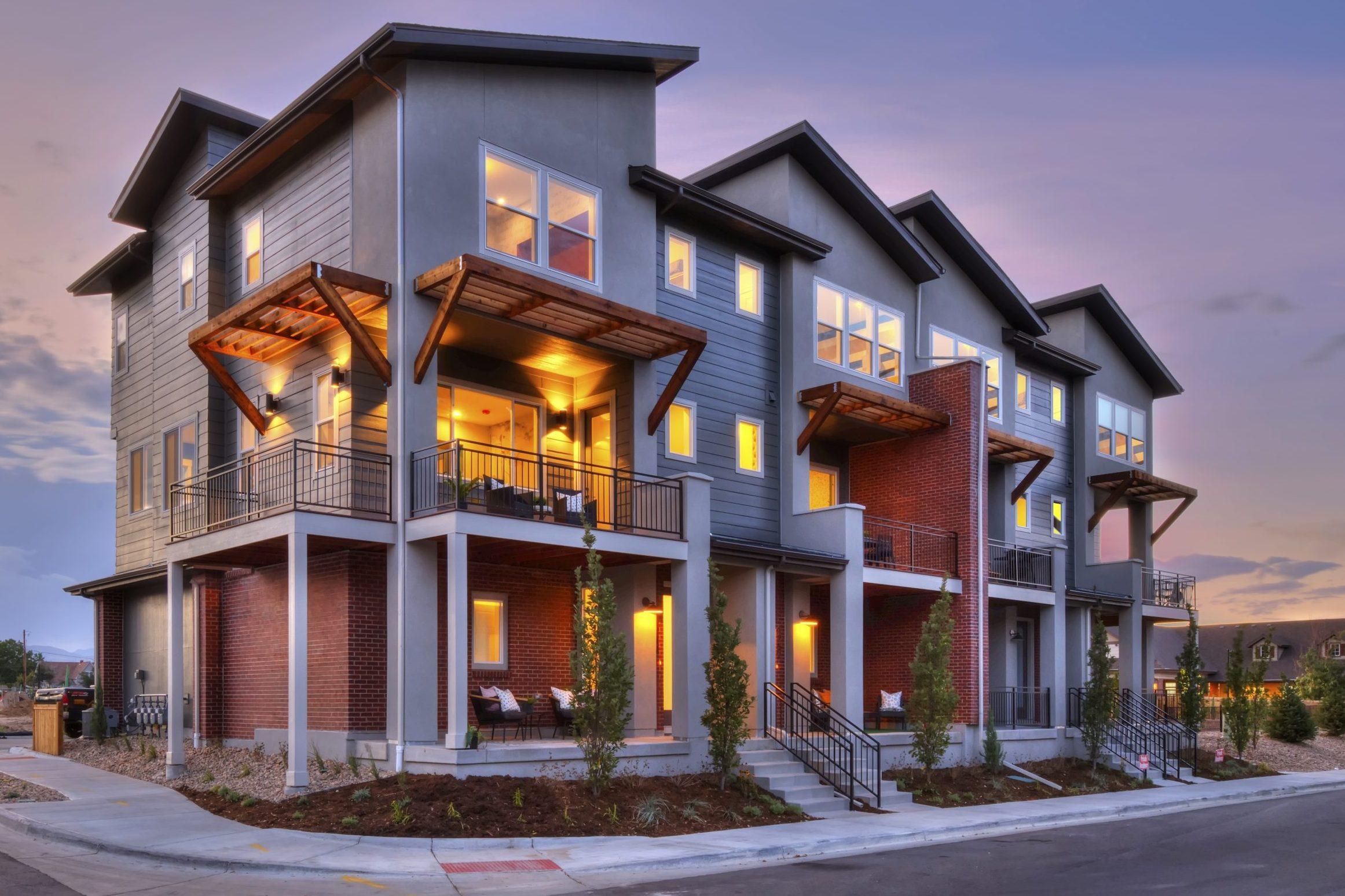 Colorado award winning architect town home design