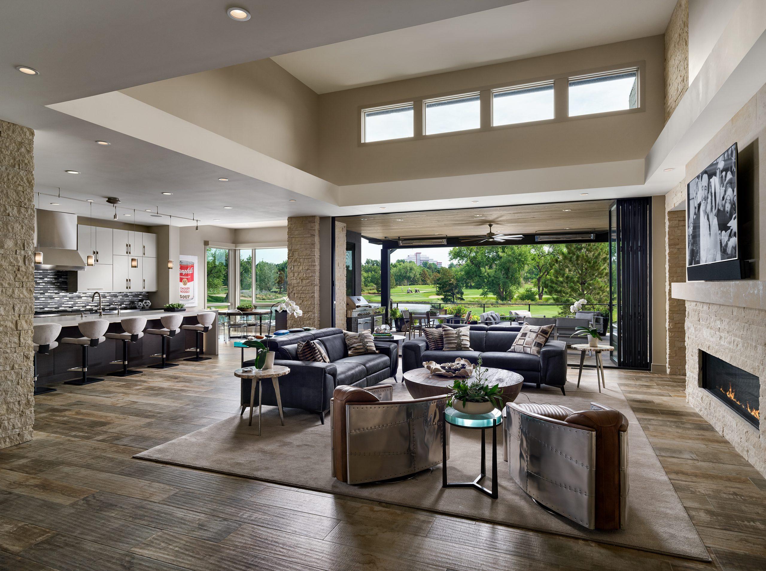Indoor outdoor room designed by godden sudik architects in denver colorado