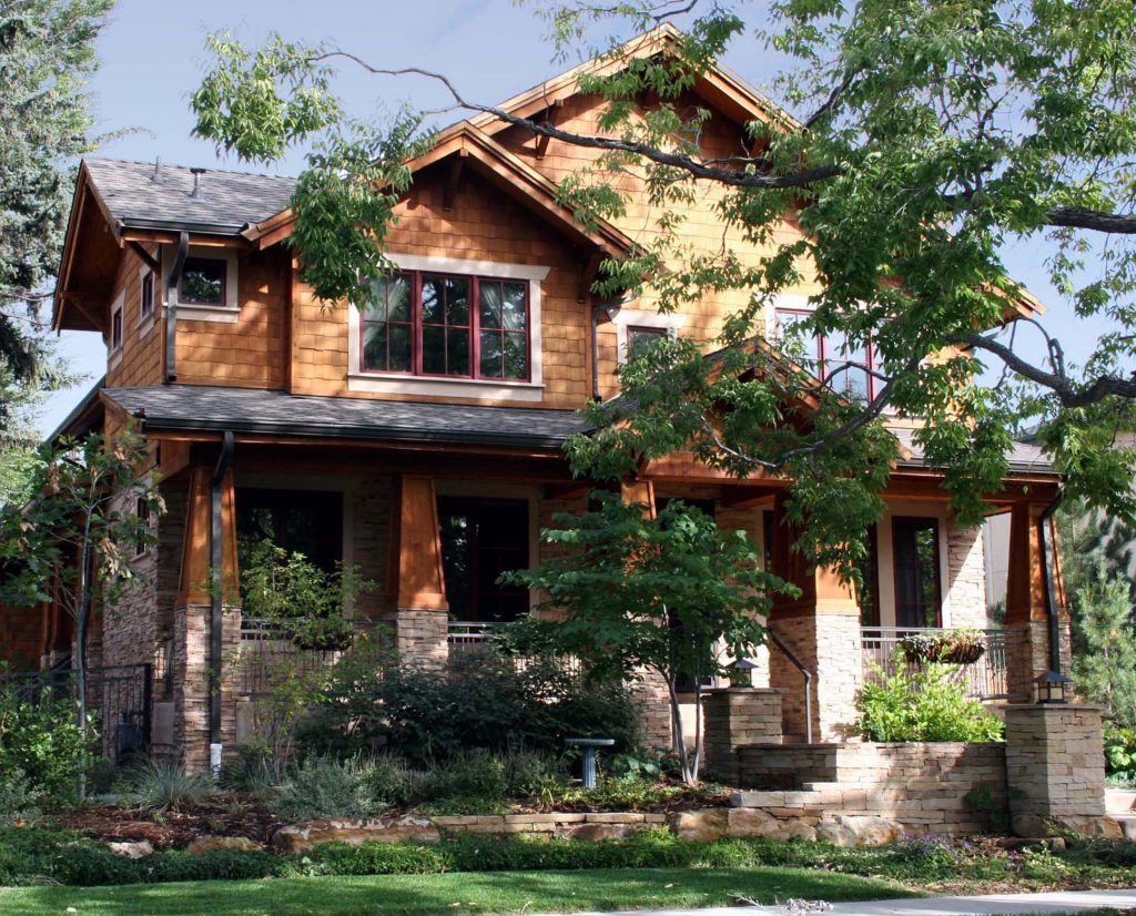 award winning residential architecture firm single family home two story wood and stone