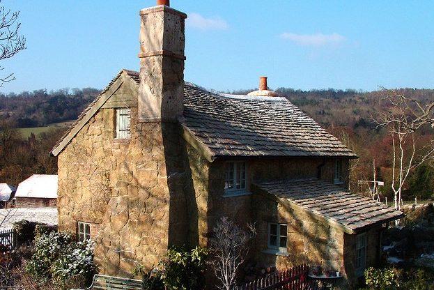 Small stone english cottage