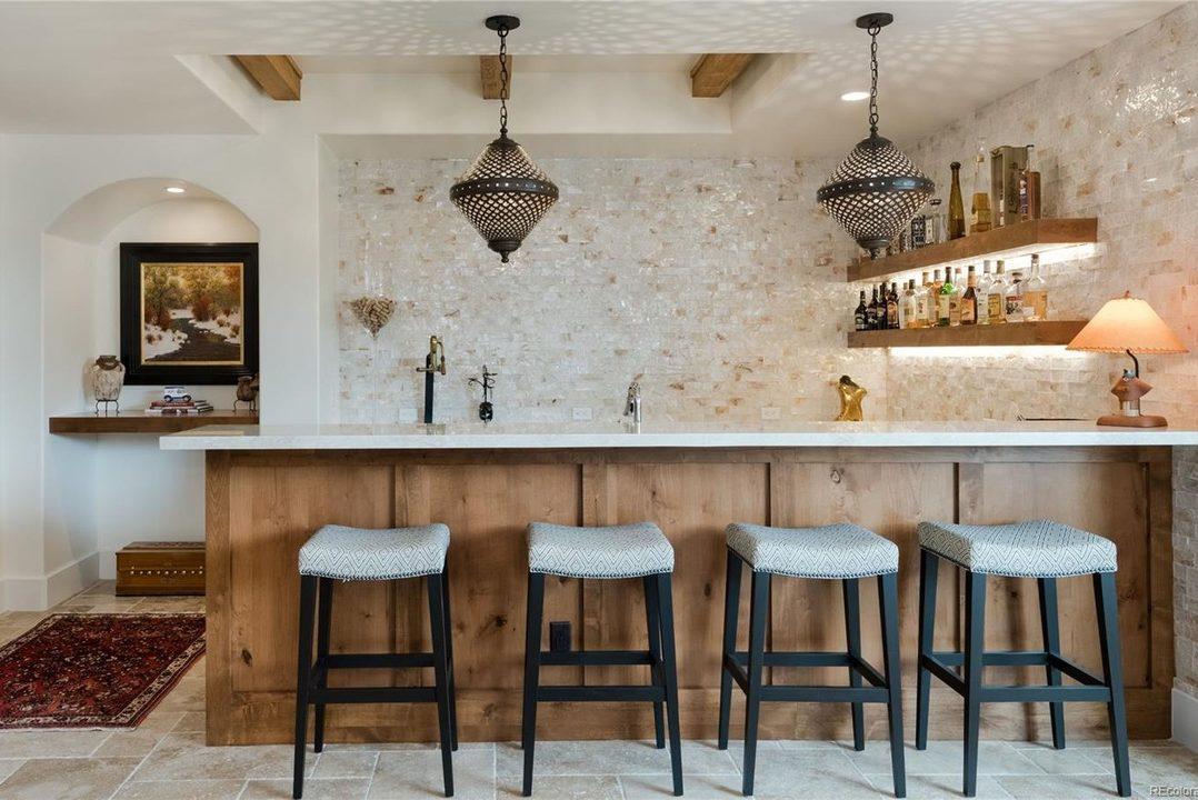 Award Winning Denver residential architect tuscan style luxury bar