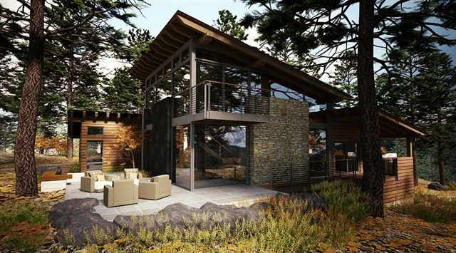 example of a mountain modern home