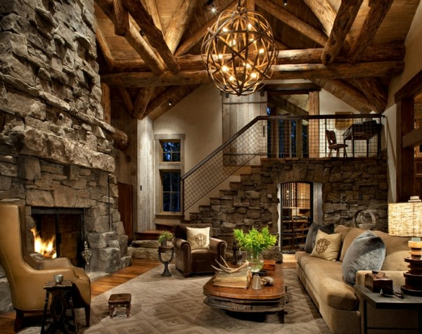 Rustic Mountain home style architecture