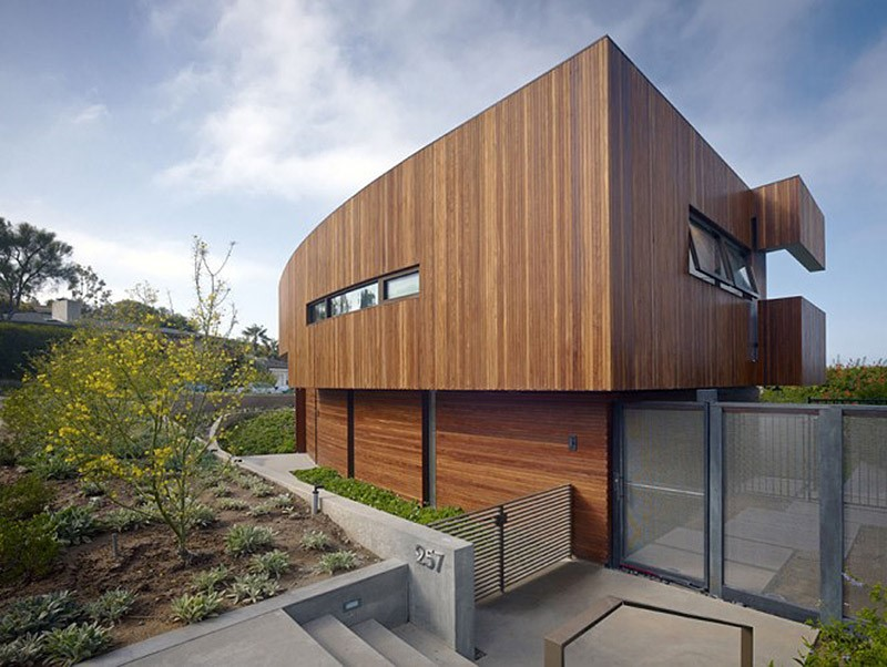 modern contemporary minimalist timber home